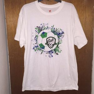 NWOT Hanes Chevrolet Youth Soccer T-shirt L